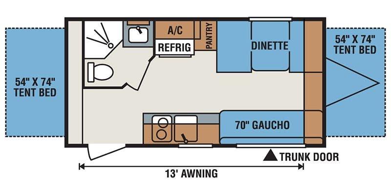 2017 K-Z INC. SPORTSMEN CLASSIC 160RBT Floorplan