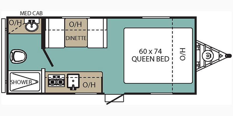 2018 COACHMEN Viking 17FQ Floorplan