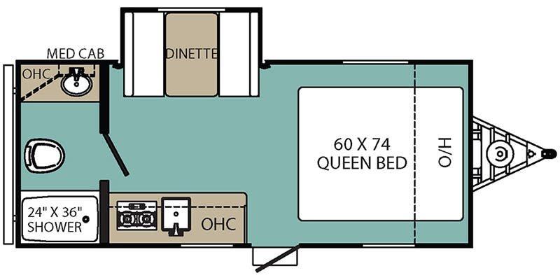 2018 COACHMEN Clipper 17FQS Floorplan