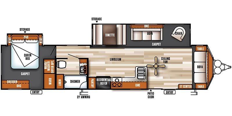 2018 SALEM VILLA CLASSIC 39FDEN Floorplan
