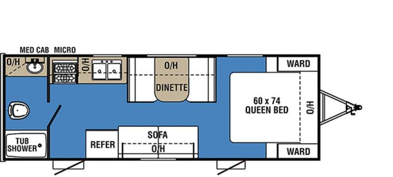 2018 COACHMEN CLIPPER 21FQ Floorplan