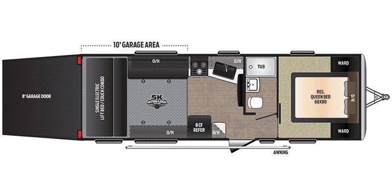2018 KEYSTONE IMPACT 26V Floorplan