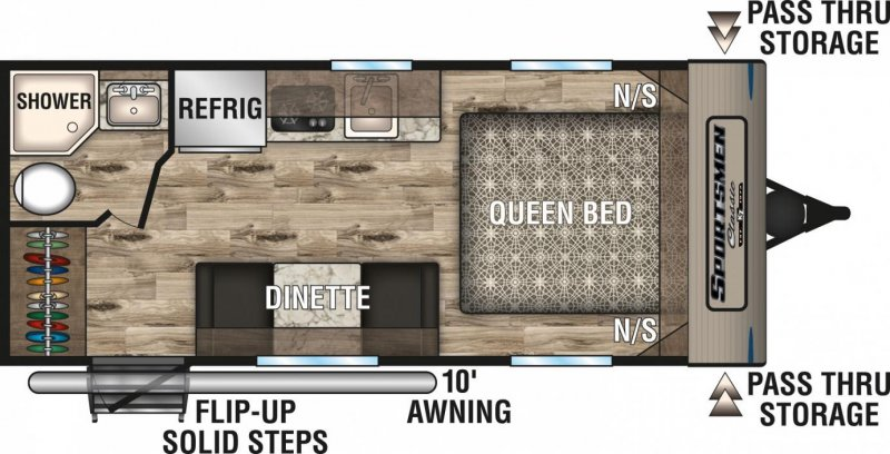 2019 K-Z INC. Sportsmen Classic 160QB Floorplan