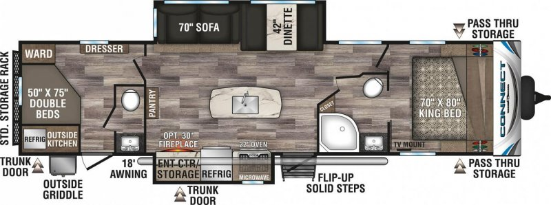 2020 K-Z INC. Connect 332BHK Floorplan