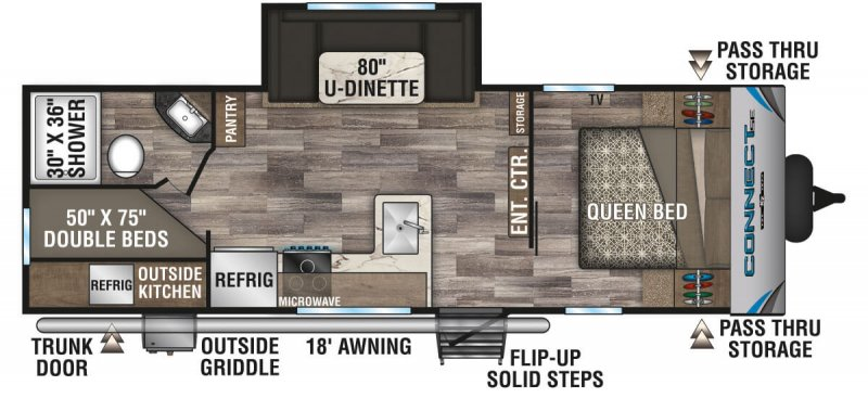 2021 K-Z INC. Connect SE 241BHKSE Floorplan