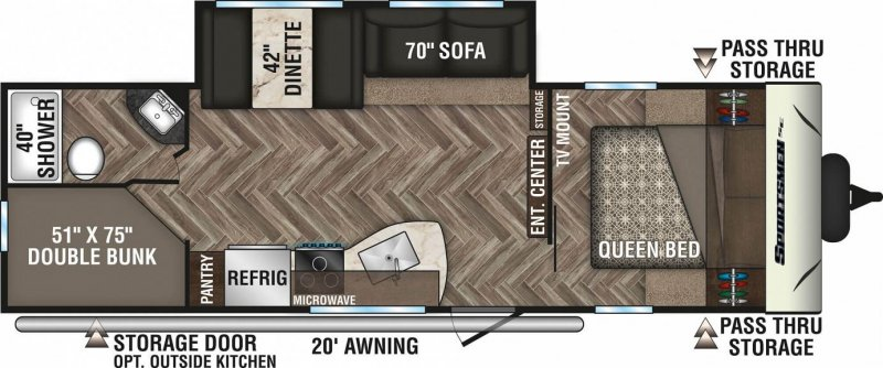 2020 K-Z INC. SPORTSMEN SE 271BHSE Floorplan