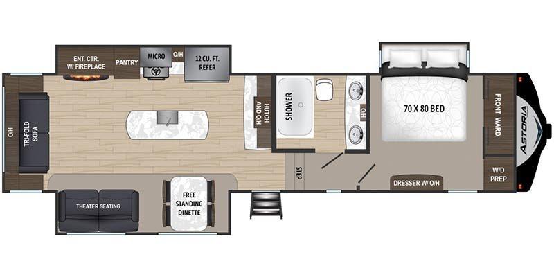 2020 DUTCHMEN ASTORIA 3173RLP Floorplan
