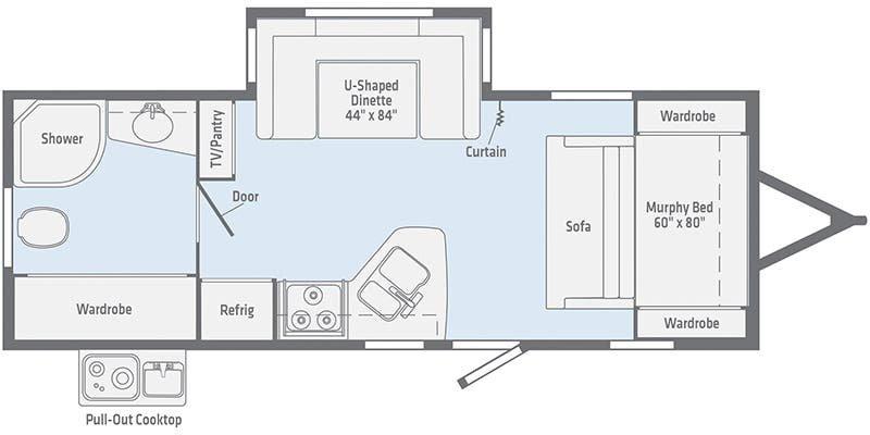 2022 WINNEBAGO Minnie 2201MB Floorplan