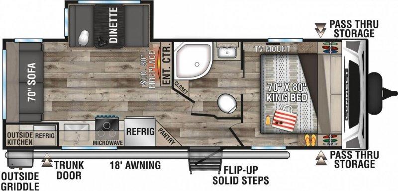 2021 K-Z INC. Connect 241RLK Floorplan