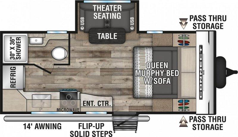 2021 K-Z INC. Connect SE 191MBSE Floorplan