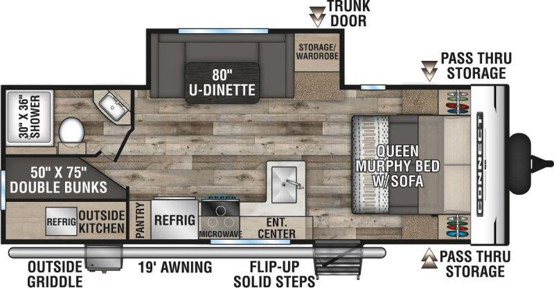 2021 K-Z INC. CONNECT SE 231BHKSE Floorplan