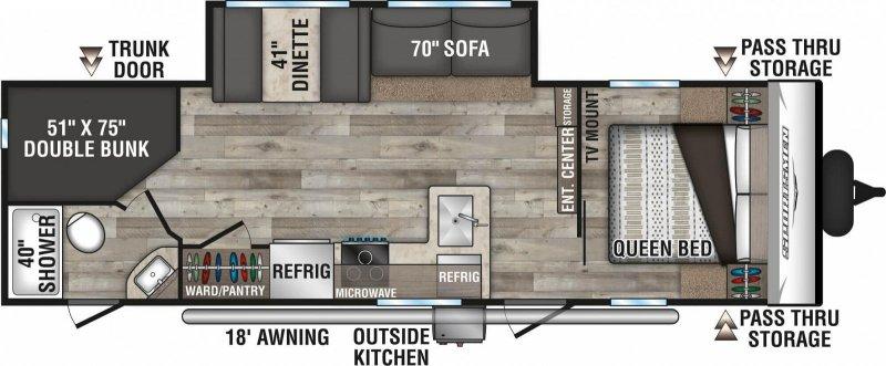 2021 K-Z INC. SPORTSMEN SE 261BHKSE Floorplan