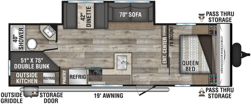 2021 K-Z INC. SPORTSMEN SE 271BHKSE Floorplan