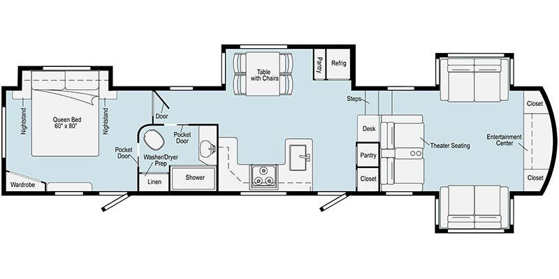 2021 WINNEBAGO VOYAGE 3436FL Floorplan