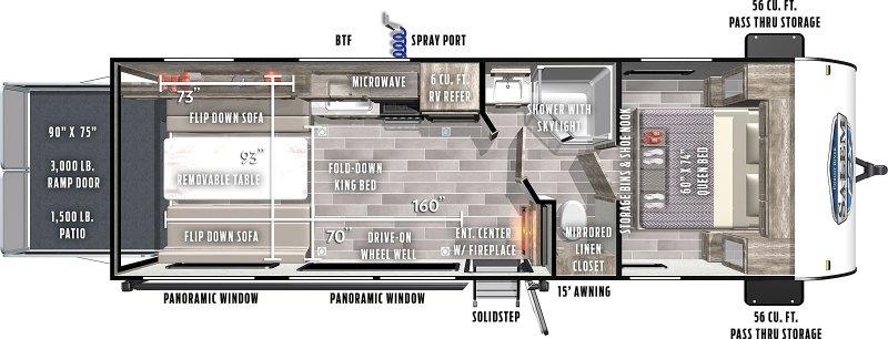 2021 FOREST RIVER SALEM FSX 260RT Floorplan