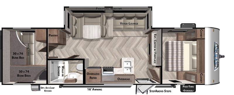 2021 FOREST RIVER CRUISELITE 273QBXL Floorplan