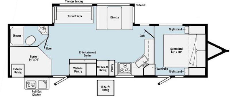 2021 WINNEBAGO VOYAGE 3033BH Floorplan