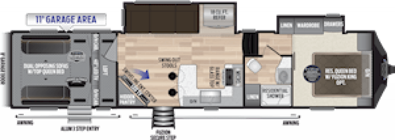 2019 KEYSTONE RV FUZION 369 Floorplan