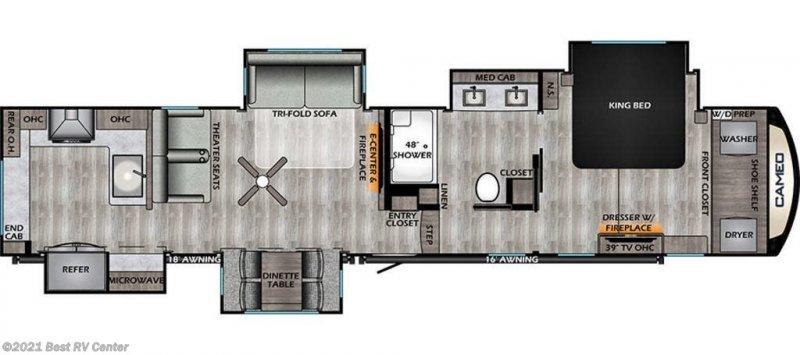 2021 CROSSROADS CAMEO 3975CK Floorplan