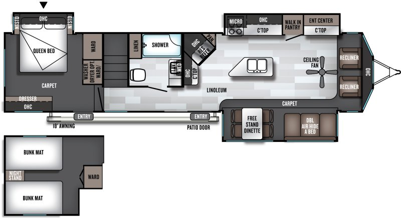 2020 SALEM Villa Estate 4092BFL Floorplan