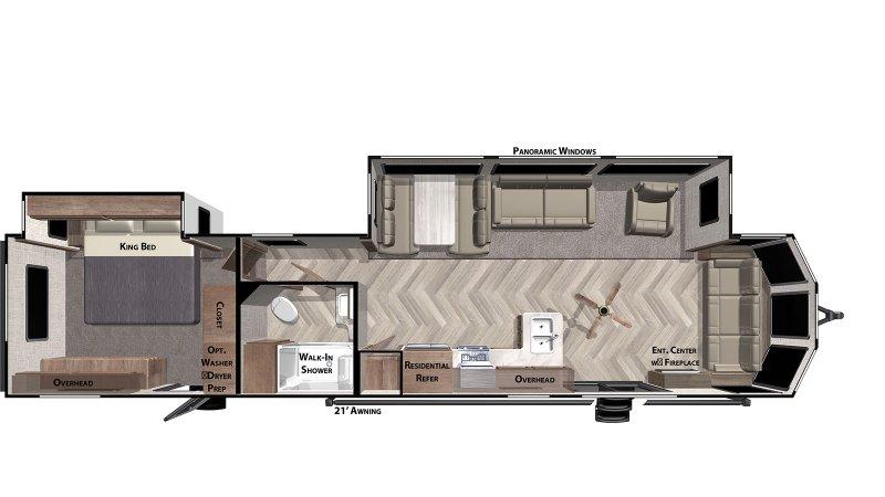 2020 FOREST RIVER Salem Villa Classic 40FDEN Floorplan