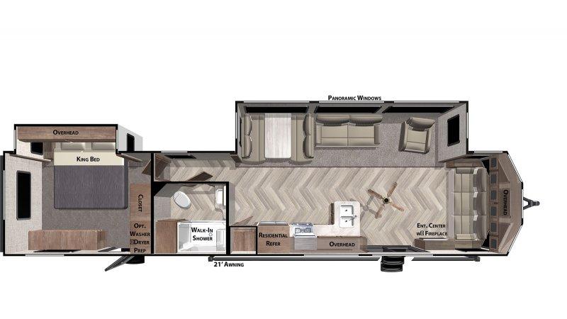 2021 FOREST RIVER Villa Classic 40FDEN Floorplan