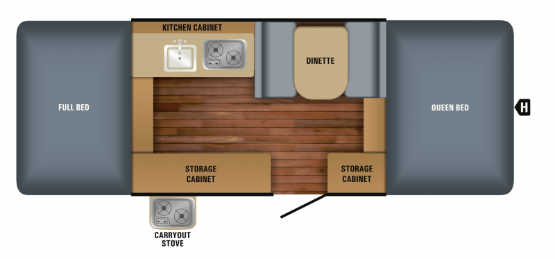 2018 JAYCO JAYCO 10SD Floorplan