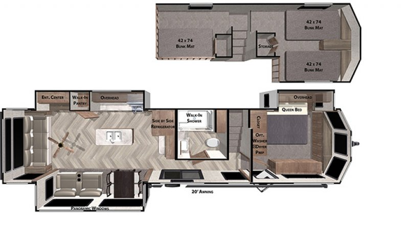 2021 FOREST RIVER GRAND VILLA 42DL Floorplan