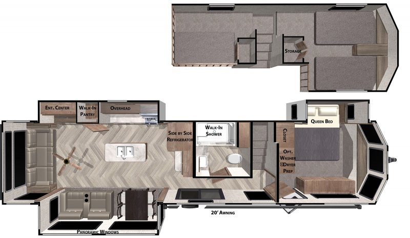 2021 FOREST RIVER SALEM GRAND VILLA 42DL Floorplan