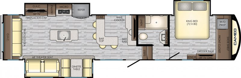2019 CROSSROADS CAMEO 3921BR Floorplan