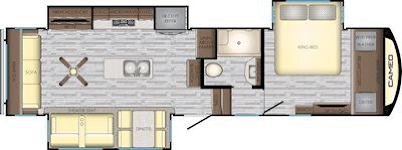 2019 CROSSROADS Cameo 3201RL Floorplan
