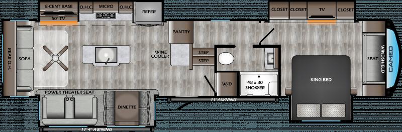 2021 CROSSROADS CAMEO 3701RL Floorplan