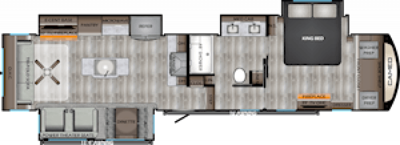 2020 CROSSROADS CAMEO 3891MK Floorplan