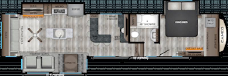 2021 CROSSROADS CAMEO 3921BR Floorplan