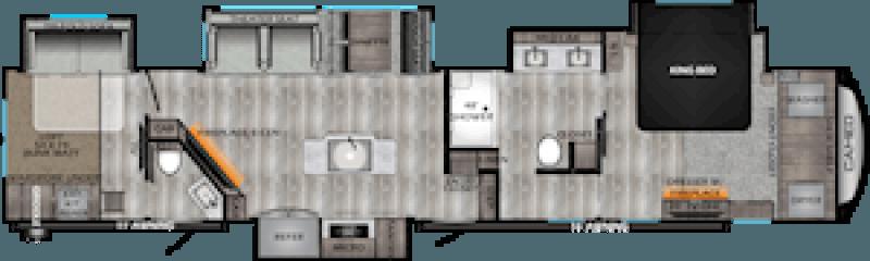 2021 CROSSROADS CAMEO 4051BH Floorplan