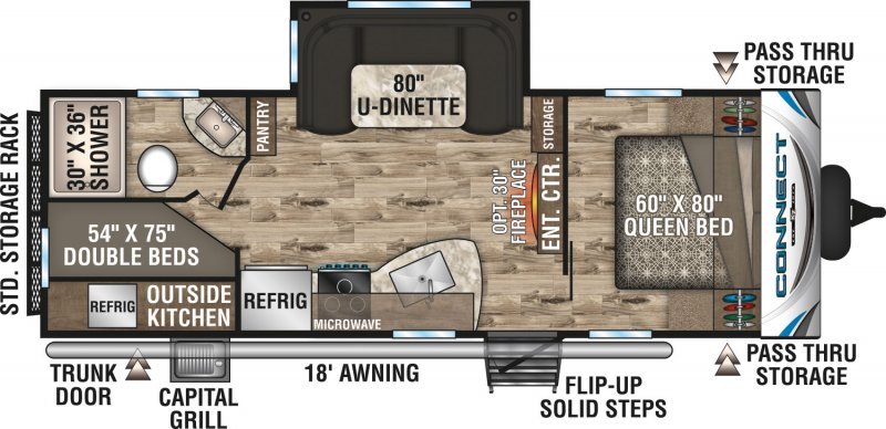 2019 K-Z INC. CONNECT 241BHK Floorplan