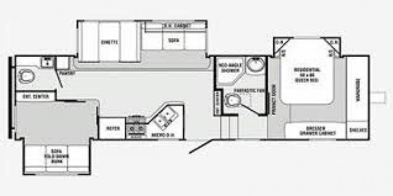 2009 PALOMINO Sabre 32BHTS Floorplan