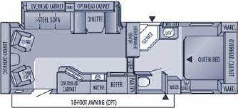2004 JAYCO JAYFLIGHT 281RLS Floorplan