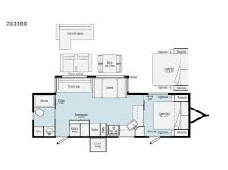 2021 WINNEBAGO Voyage 2831RB Floorplan