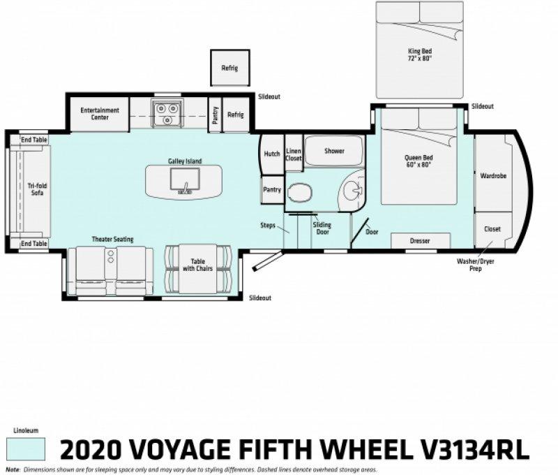 2020 WINNEBAGO Voyage 3134RL Floorplan