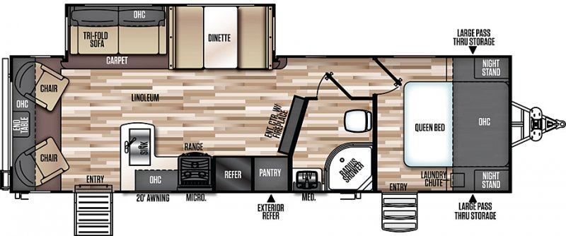 2019 FOREST RIVER HEMISPHERE 269RL Floorplan
