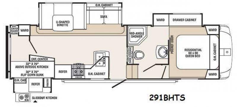 2015 SABRE SILHOUETTE 291BHS Floorplan