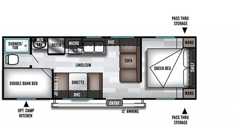 2021 FOREST RIVER CRUISE LITE 261BHXL Floorplan