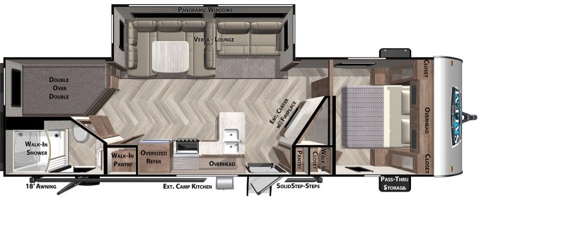 2021 FOREST RIVER Salem 26DBUD Floorplan