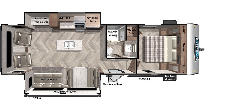 2021 FOREST RIVER SALEM 27RE Floorplan