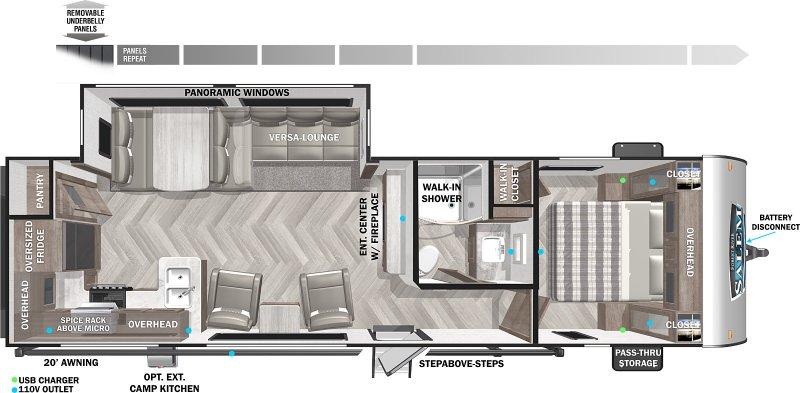 2022 FOREST RIVER Salem 27RK Floorplan