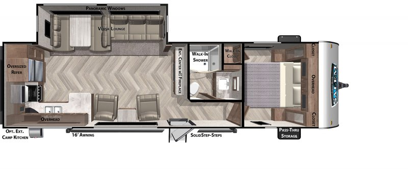 2020 FOREST RIVER Salem 27RKS Floorplan