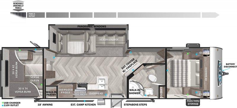 2022 FOREST RIVER Salem 29VBUD Floorplan