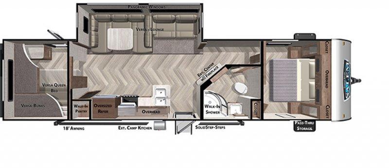 2021 FOREST RIVER SALEM 29VBUD Floorplan