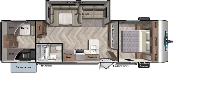 2021 FOREST RIVER Salem 30KQBSS Floorplan